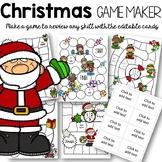 Editable Christmas Games