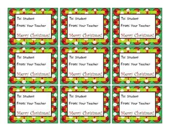 Editable Christmas Gift Tags