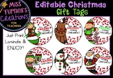 Editable Christmas Gift Tags