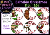 Editable Christmas Gift Tags - BLANK VERSION