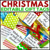 Editable Gift Tags For Teachers