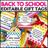 Editable Gift Tags Rainbow
