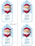 Editable Christmas Gift Tags With Santa