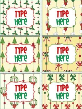 Editable Labels-Christmas Labels