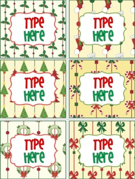 Editable Christmas Labels.Editable Labels Christmas Labels