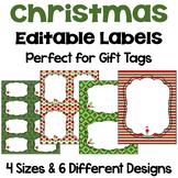 Christmas Editable Labels and Gift Tags