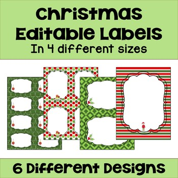 Editable Christmas Labels.Christmas Editable Labels And Gift Tags