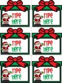 Editable Labels-Christmas Labels With Santa