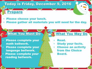 Editable Christmas Morning Board Templates