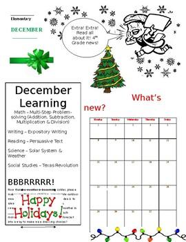 Editable Christmas Newsletter