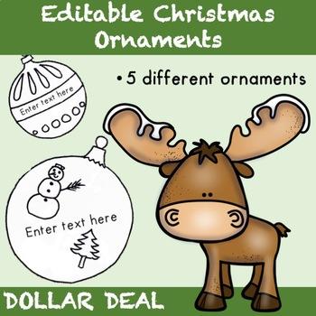 Editable Christmas Ornaments - Dollar Deal {Christmas Activities}