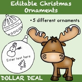 Editable Christmas Ornaments - Dollar Deal {Christmas Activities}