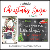 Editable Christmas Sign