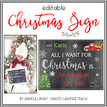Editable Christmas Sign