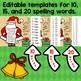 Editable Christmas Spelling Notebook