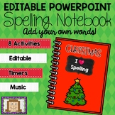 Editable Christmas Spelling Notebook