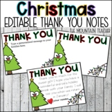 Editable Christmas Thank You Notes