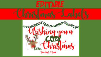 Editable Christmas Treat Labels