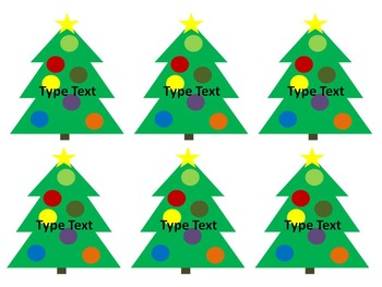 Editable Christmas Tree Labels for your Classroom and Home!