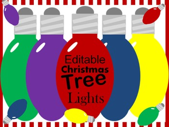 Editable Christmas Tree Light Labels