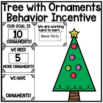 Editable Christmas Tree with Ornaments Behavior Math Reward System