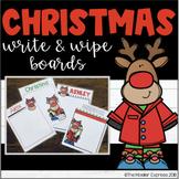 Editable Christmas Write & Wipe Whiteboards - Writing template - Gift