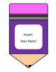Editable Chunky Pencil Banner / Clip Art {FREEBIE!}