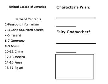 Editable Cinderella Passport