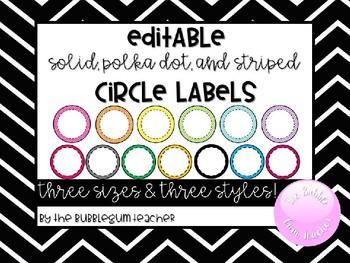 Editable Circle Labels