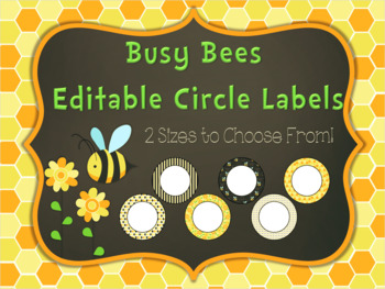 Editable Circle Labels: Busy Bee