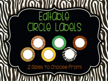 Editable Circle Labels: Rumble in the Jungle