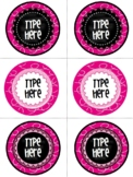 Editable Labels-Editable Valentine's Day{Circle}