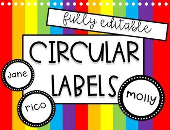 Editable Circular Labels