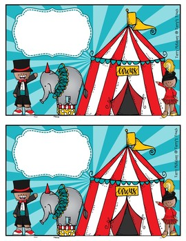 Editable Circus Covers and Labels