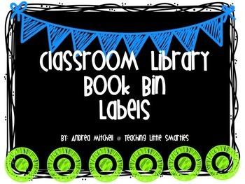 Editable Clasroom Library Book Bin Labels