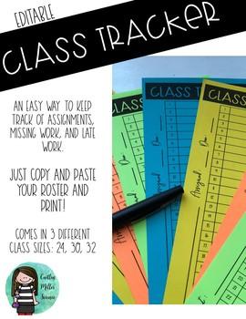 Editable Class Assignment Tracker