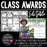 Editable Awards and Certificates