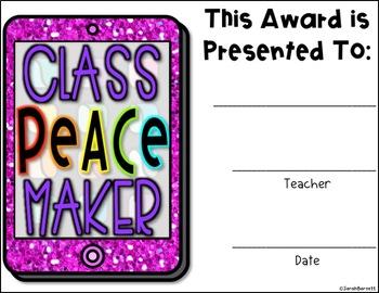 Editable Class Awards - iPad Style