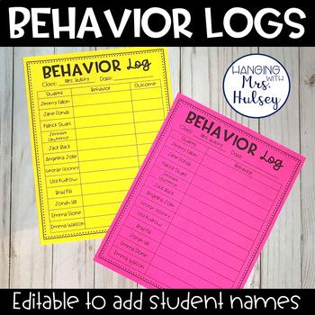 Editable Class Behavior Logs (Freebie)