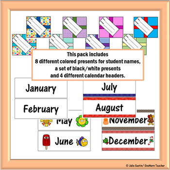 Editable Class Birthday Calendar