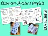 Editable Class Brochure Template: Back to School Night, Cl