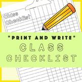 The Essential Class Checklist