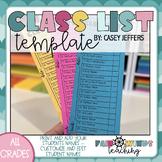 Class List Checklist *Editable*