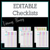 Editable Class Checklists
