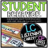 Editable Class Dojo Behavior Posters, Desk Tags, and Targe
