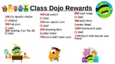 Editable Class Dojo Rewards Chart