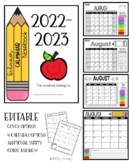 Editable Class Dojo/Clip Chart- Behavior Calendar Notebook