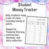Editable Class Economy Money Tracker | Money or Points Recording Sheet