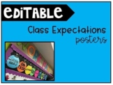 Editable Class Expectations Posters