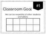 Editable Class Goals in Black and White - Classroom Management